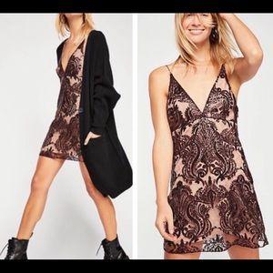 Free People Black Night Shimmers Mini Dress 12
